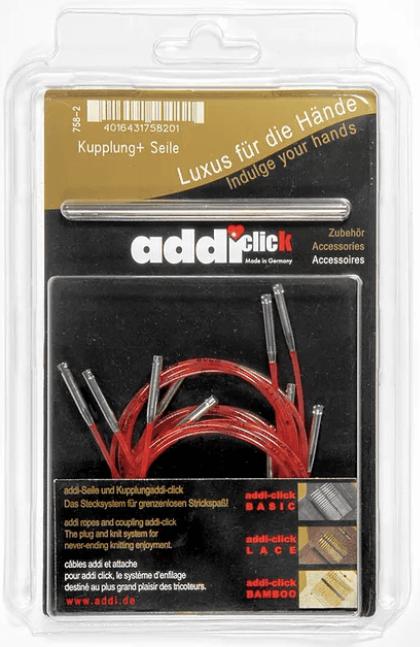 758-2 Addi Click 5 Lace Cords, 1 Connector
