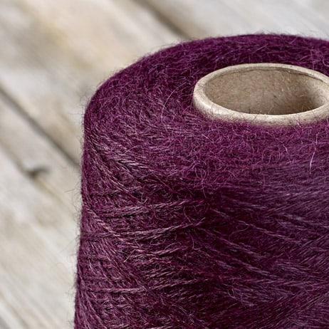 C213 Sloe coloured cone yarn