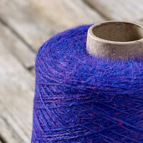 C311 Blue purple cone yarn
