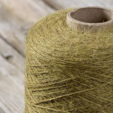 C312 Green Straw coloured cone yarn